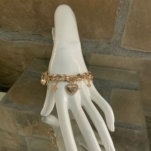 Moon Star Heart Charm Bracelet